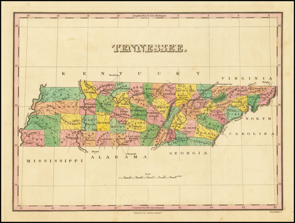 18-Tennessee Map By Anthony Finley