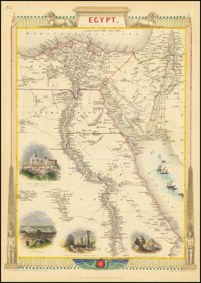 3-Egypt Map By John Tallis