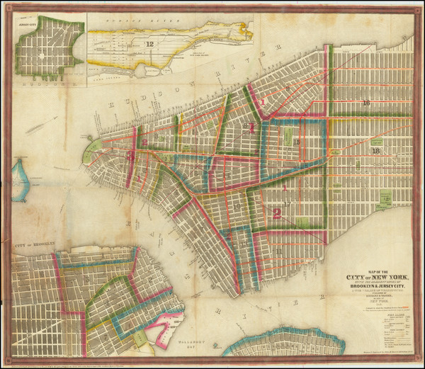 55-New York City Map By Ensign & Thayer