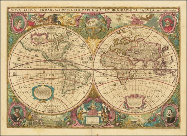 100-World Map By Henricus Hondius