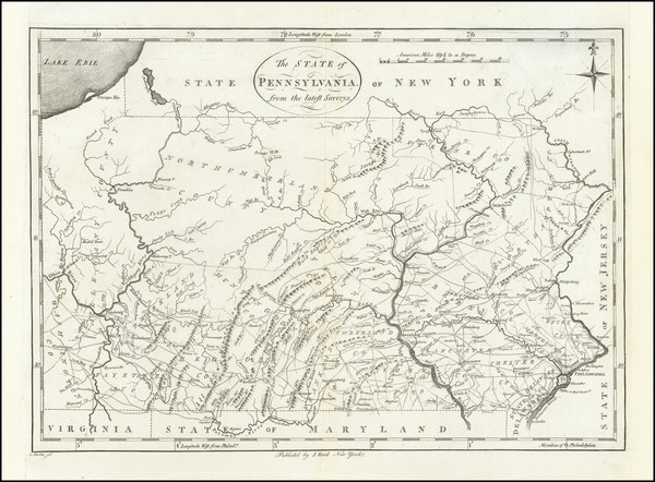 68-Pennsylvania Map By John Reid
