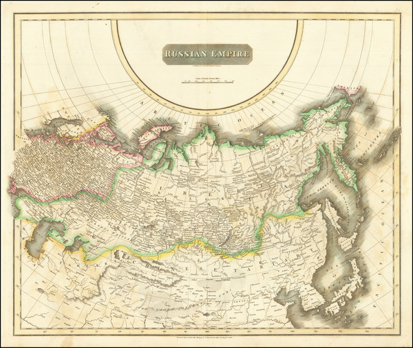 95-Russia, Central Asia & Caucasus and Russia in Asia Map By John Thomson