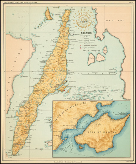 38-Philippines Map By Hoen & Co.