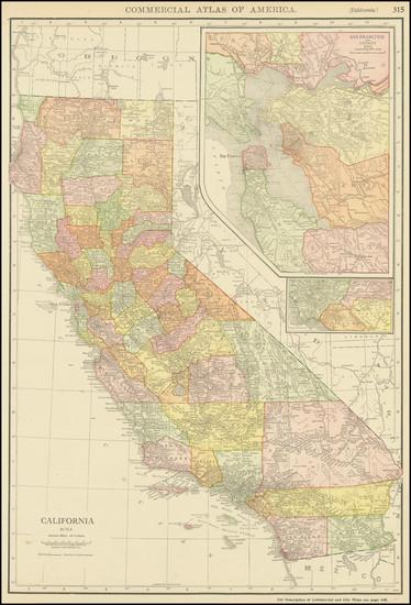 12-California Map By Rand McNally & Company