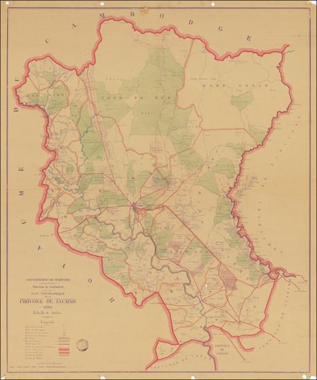 75-Thailand, Cambodia, Vietnam Map By Service du Cadastre de Cochinchine
