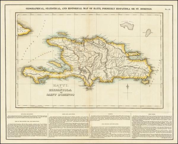 63-Hispaniola Map By Henry Charles Carey  &  Isaac Lea