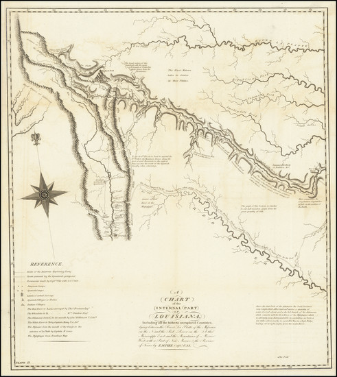 41-Texas, Plains, Southwest and Rocky Mountains Map By Zebulon Montgomery Pike