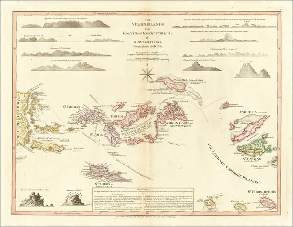 97-Virgin Islands Map By Thomas Jefferys