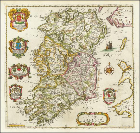 63-Ireland Map By Richard Blome