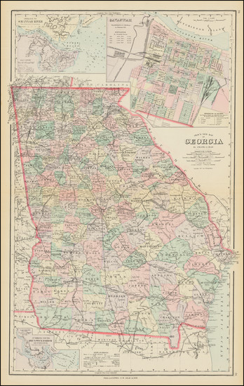 69-Georgia Map By Frank A. Gray