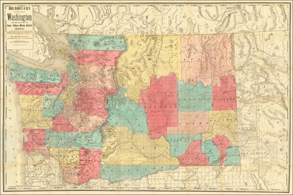 51-Idaho and Washington Map By Rand McNally & Company