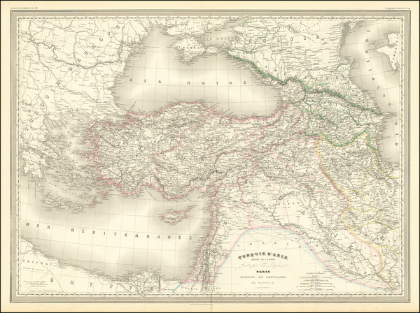 81-Ukraine, Turkey, Central Asia & Caucasus, Middle East and Turkey & Asia Minor Map By Ad