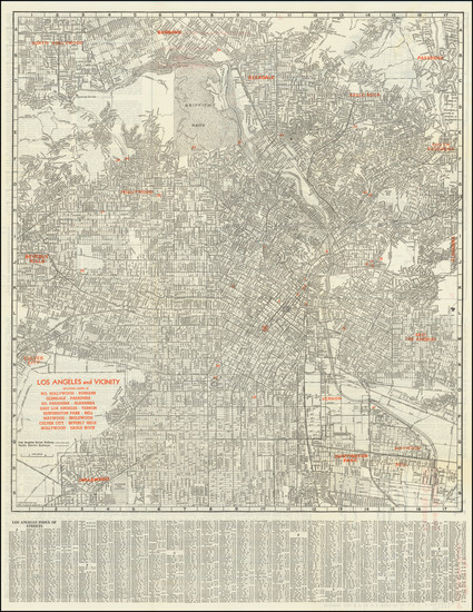 64-Los Angeles Map By The Clason Map Company