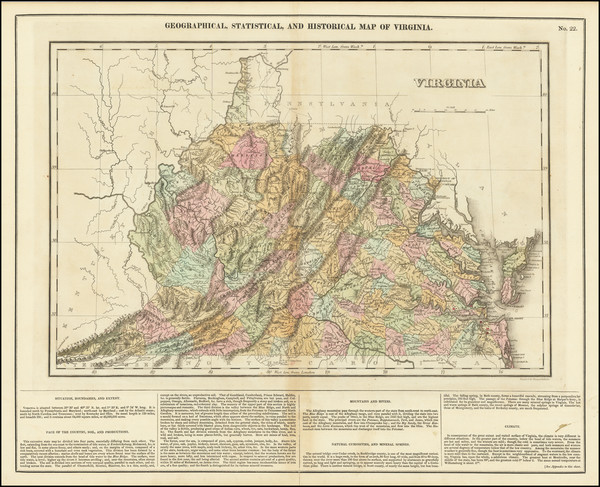 81-Virginia Map By Henry Charles Carey  &  Isaac Lea