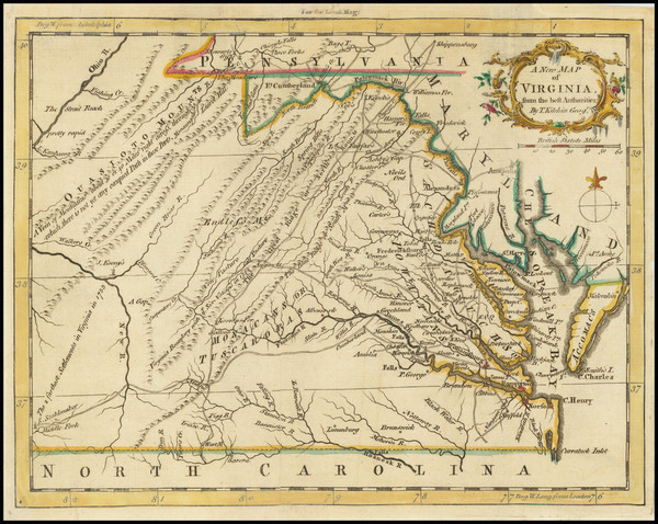 92-West Virginia, Southeast and Virginia Map By London Magazine