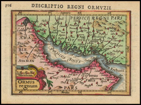 16-Middle East and Arabian Peninsula Map By Petrus Bertius