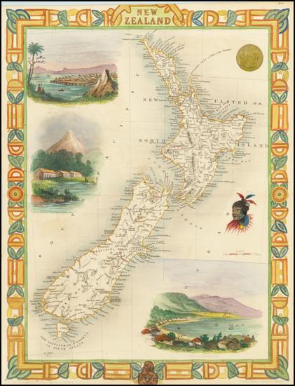 18-New Zealand Map By John Tallis