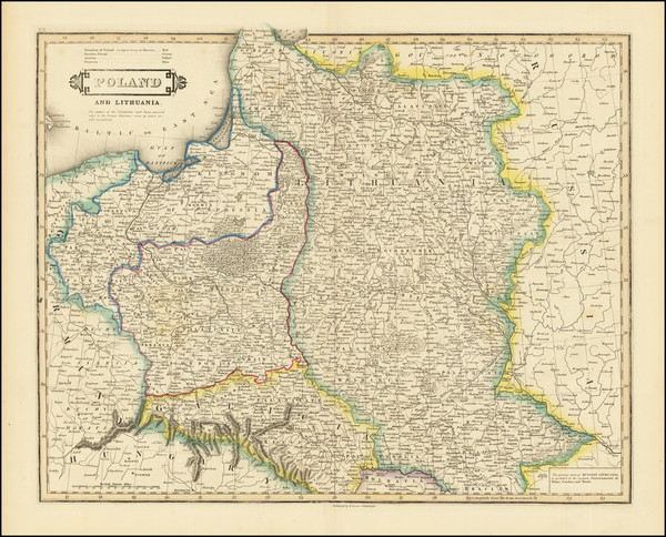 35-Poland, Russia and Baltic Countries Map By Daniel Lizars