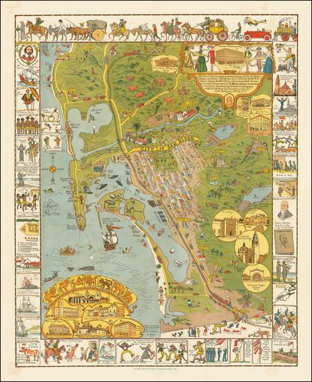 5-California Map By Jo Mora