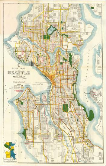 100-Washington Map By Kroll Map Company
