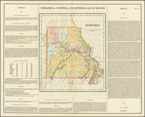 94-Missouri Map By Henry Charles Carey  &  Isaac Lea