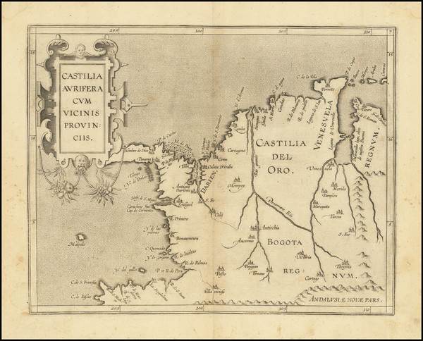 0-Colombia Map By Cornelis van Wytfliet