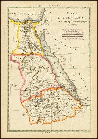 67-Egypt Map By Rigobert Bonne