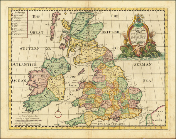 62-British Isles Map By Edward Wells