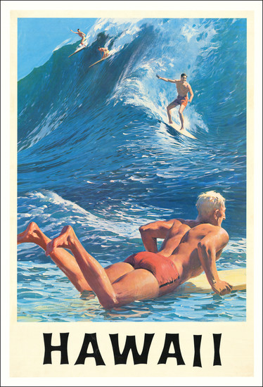 67-Hawaii, Hawaii and Travel Posters Map By Charles Allen