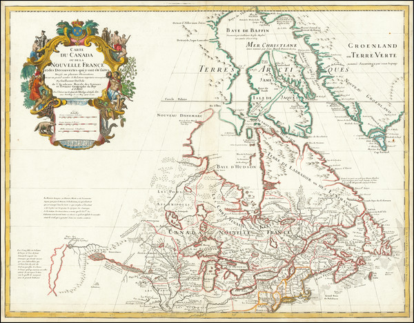 78-Midwest, Plains, Rocky Mountains and Canada Map By Guillaume De L'Isle