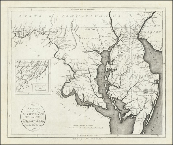 25-Maryland and Delaware Map By John Reid