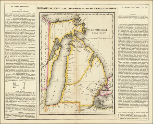 60-Michigan Map By Henry Charles Carey  &  Isaac Lea