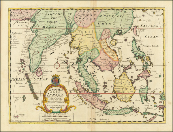 85-China, India, Southeast Asia and Philippines Map By Edward Wells