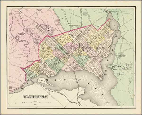 86-Washington, D.C. Map By O.W. Gray