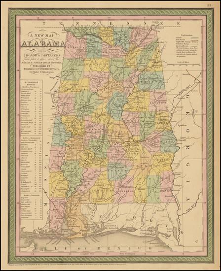 45-Alabama Map By Thomas, Cowperthwait & Co.