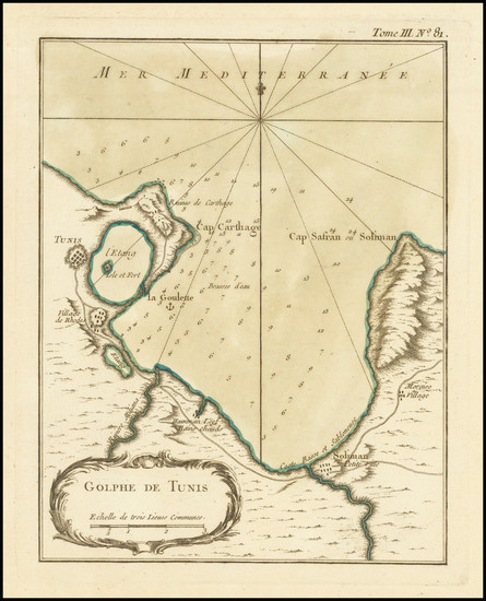 12-North Africa Map By Jacques Nicolas Bellin