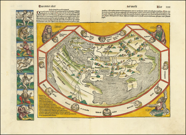 100-World Map By Hartmann Schedel