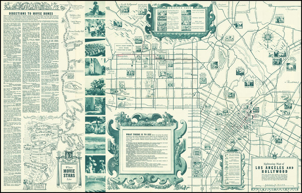 87-Pictorial Maps and Los Angeles Map By The All-Year Club of Southern California
