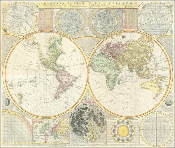 64-World and Celestial Maps Map By Samuel Dunn