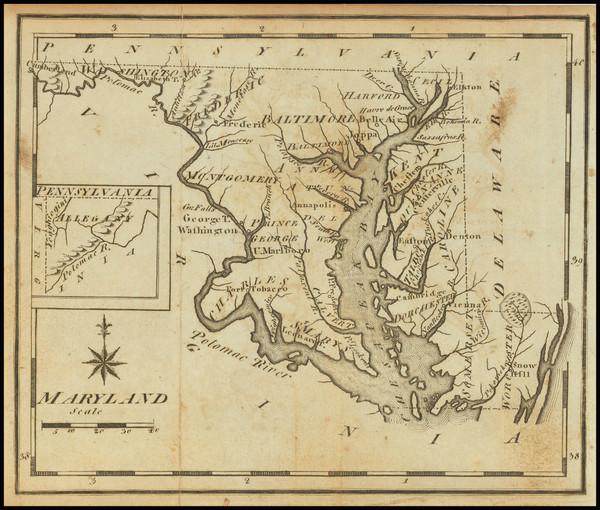 91-Maryland Map By Joseph Scott