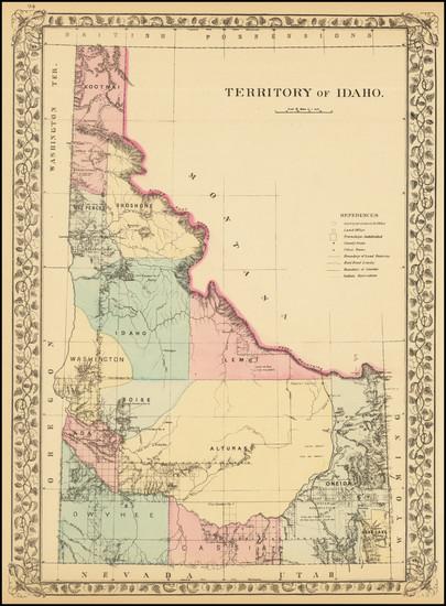 32-Idaho Map By Samuel Augustus Mitchell Jr.