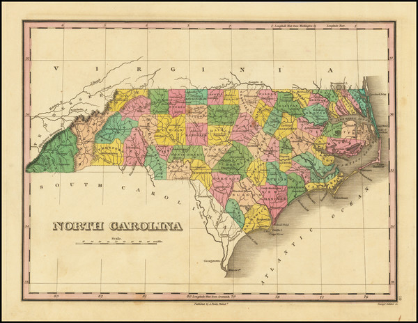 75-North Carolina Map By Anthony Finley