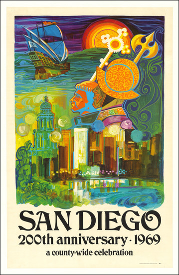 55-San Diego Map By France Carpentier