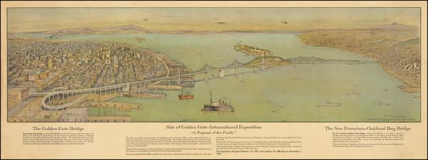1-San Francisco & Bay Area Map By Elbridge Ayer Burbank