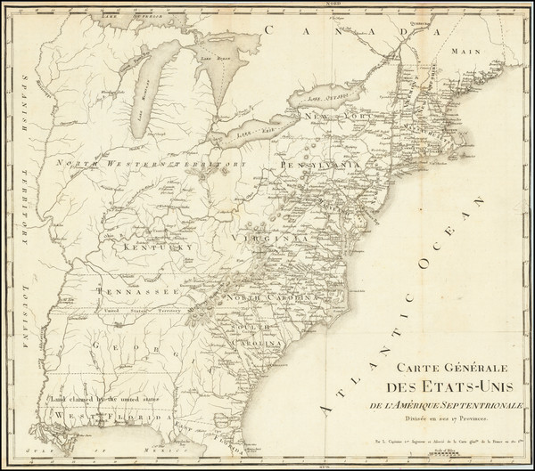 30-United States Map By Francois A.F. La Rochefoucault-Liancourt