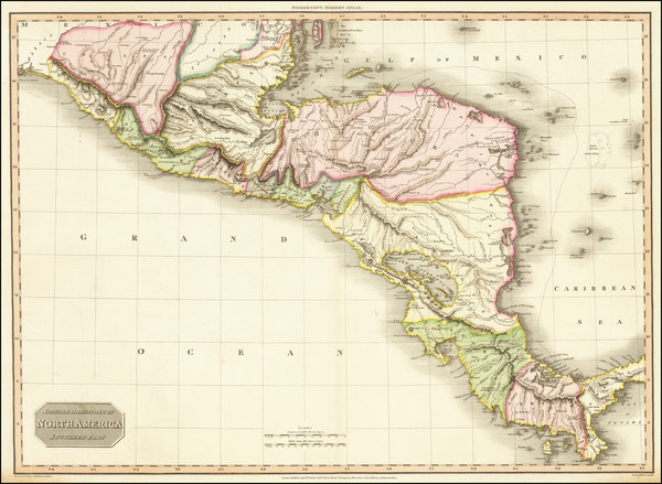 25-Mexico and Central America Map By John Pinkerton