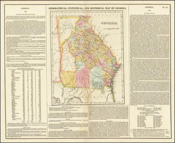 7-Georgia Map By Henry Charles Carey  &  Isaac Lea