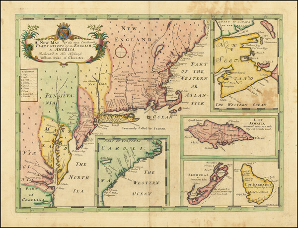 99-United States, New England, Mid-Atlantic, Caribbean and Canada Map By Edward Wells