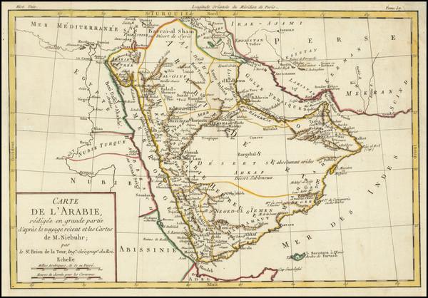 55-Middle East and Arabian Peninsula Map By Louis Brion de la Tour