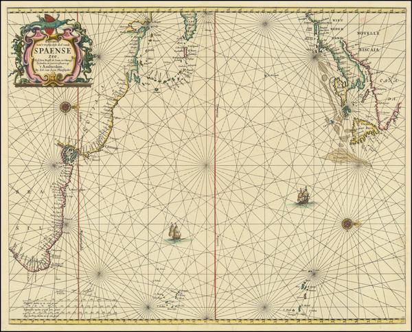 8-Atlantic Ocean, New England, Caribbean and Brazil Map By Johannes van Loon